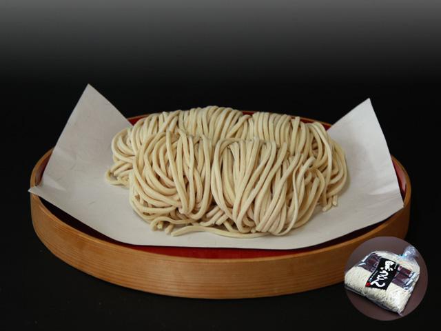 山形県尾花沢 星川のなま麺 「黒うどん」(5食入/つゆ付):画像