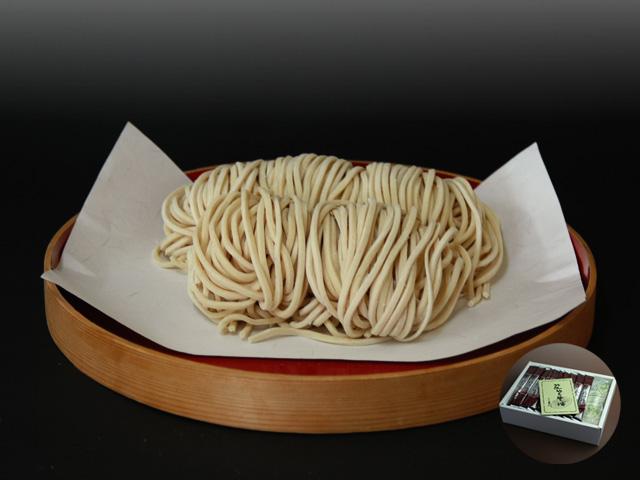 山形県尾花沢 星川のなま麺 「黒うどん」(10食入/つゆ付/化粧箱):画像