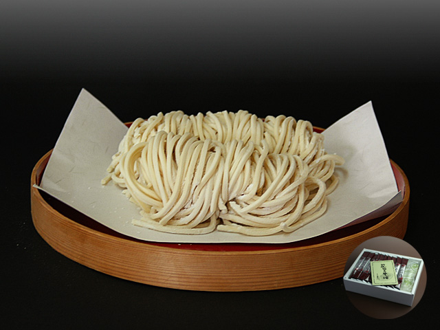 山形県尾花沢 星川のなま麺 冬限定うどん ギフト箱(10食入/つゆ付):画像