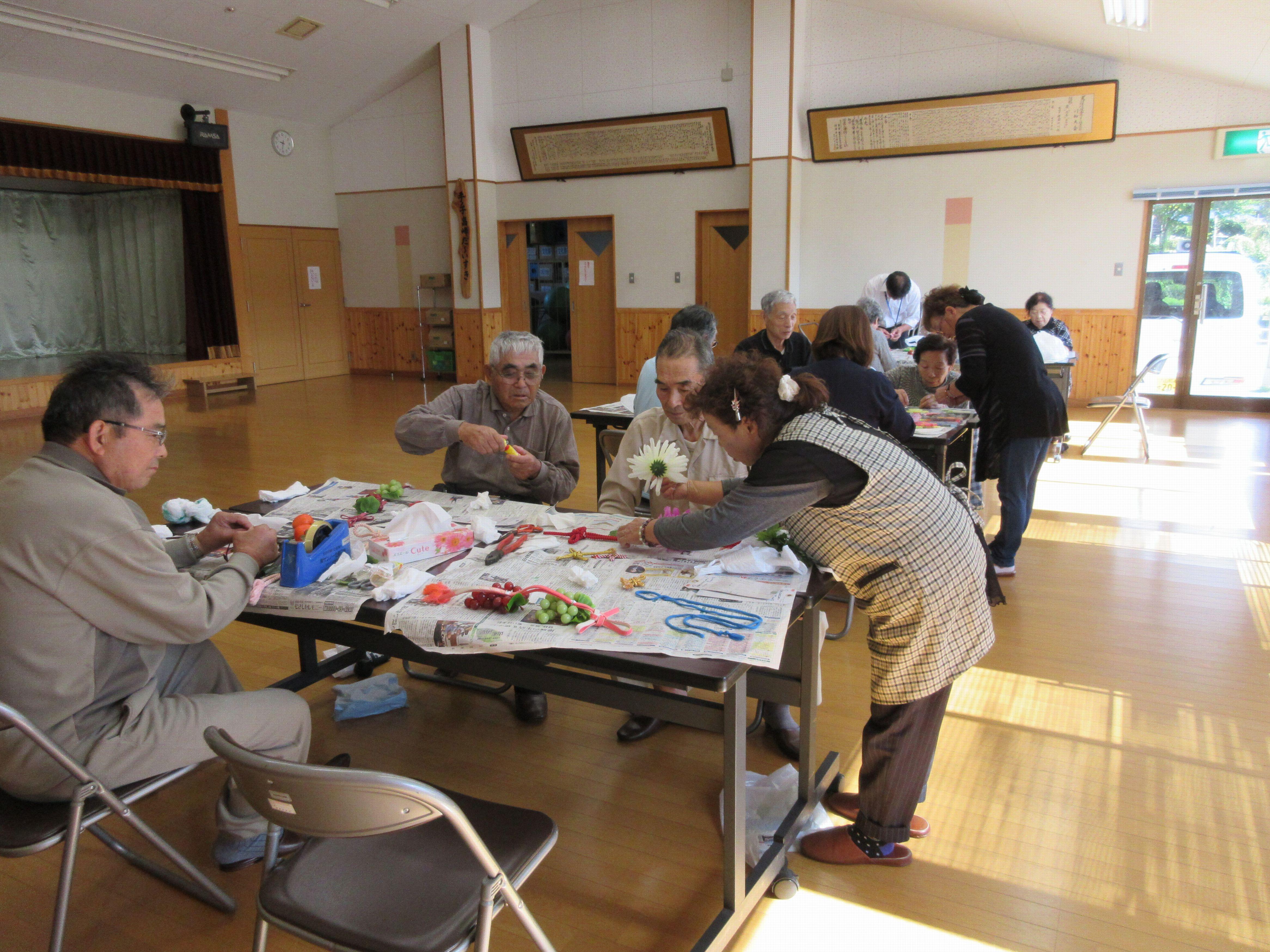 ふるさと学園文化祭作品つくり:画像