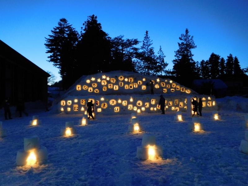 しろつばき雪まつり開催:画像
