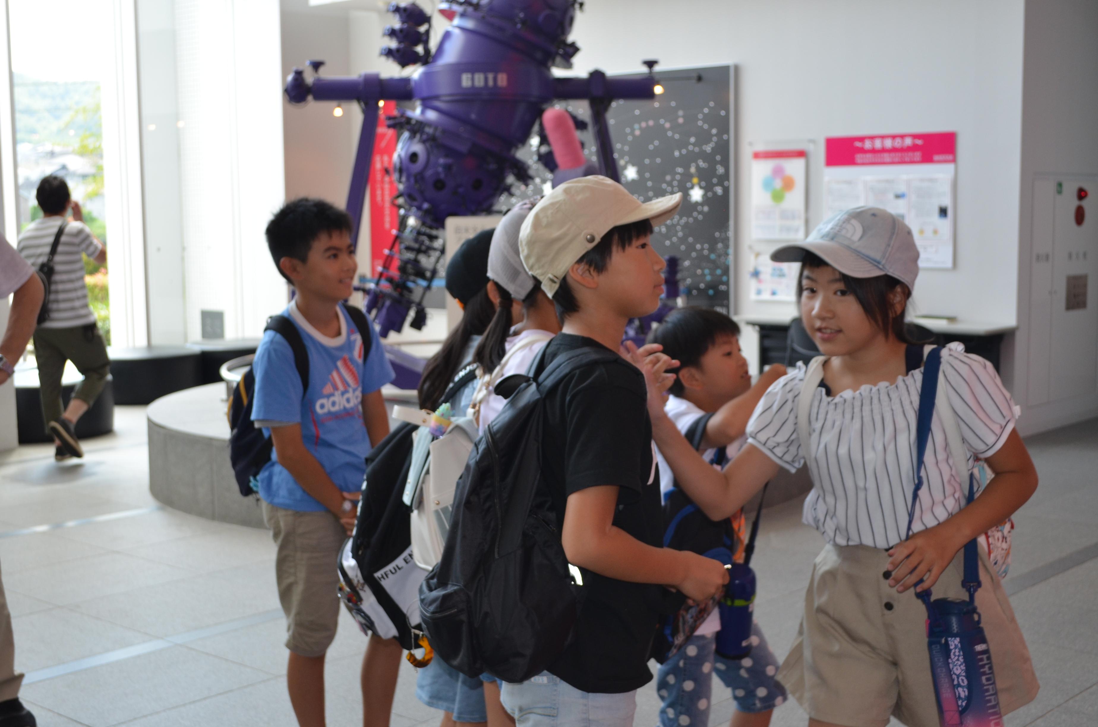 夏休み郊外体験学習(天文教室)開催:画像
