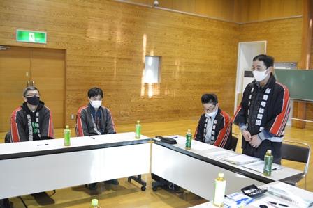 東部地区長会と飯豊町消防団第3分団との懇談会:画像