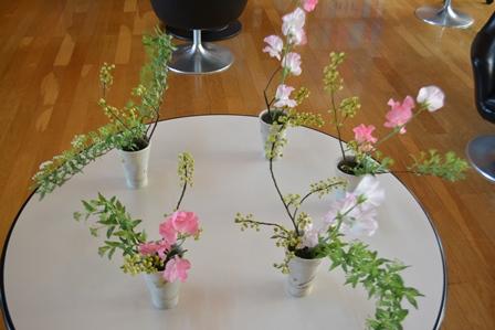 「生花教室」閉級式:画像
