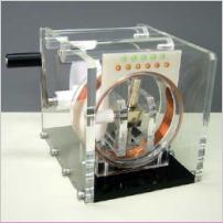 手回し発電実験模型:画像