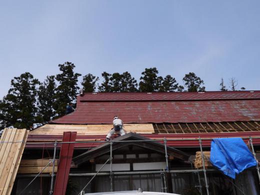 大規模な屋根改修工事/