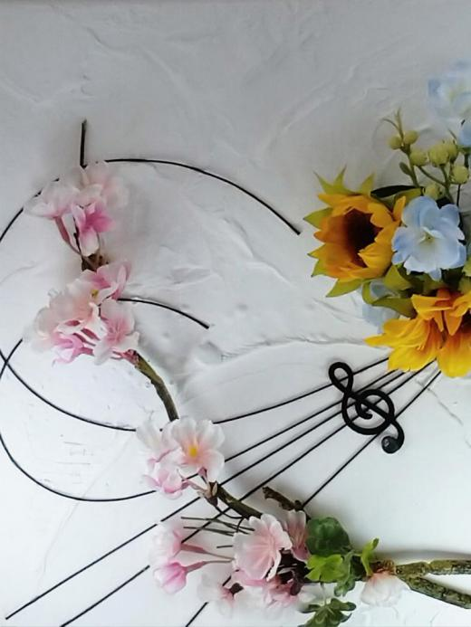 春/漆喰の塗り×Artificial Flower/