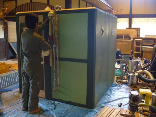 2012/05/07 11:00/「ヲノグァワ」映画セット作業現場へお邪魔しました