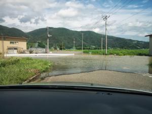 「大雨の被害が残るなか、南陽市で車庫証明申請 」の画像