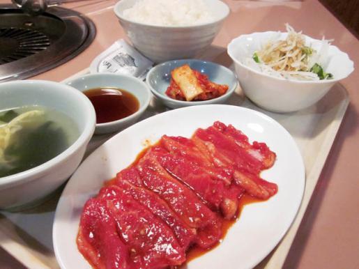 2010/07/20 21:35/「カルビ定食 840円」を堪能中