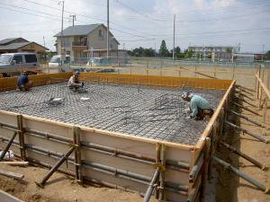 「基礎工事中」の画像