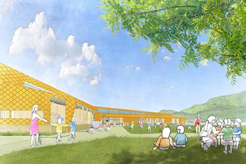 「なごみこども園新園舎建設設計業務」の画像