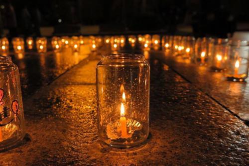 「3.11に小さな祈りの場で灯しました」の画像
