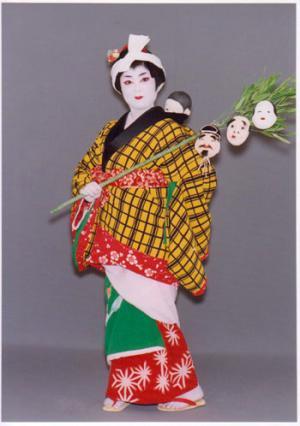 「常磐津 三つ面子守」の画像