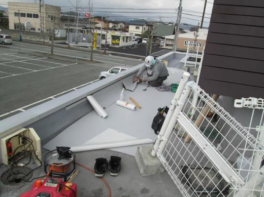 シート防水工事が行われました。/