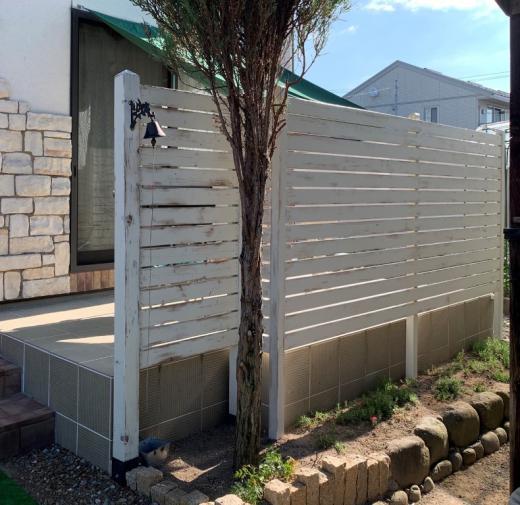 DIY木製フェンス/