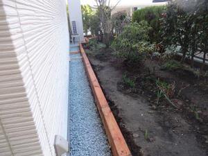 「庭の縁取り完成しました!!」の画像