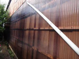 「外壁ポリカ張替工事」の画像