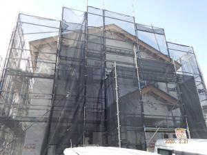 「建て方が終わりました」の画像