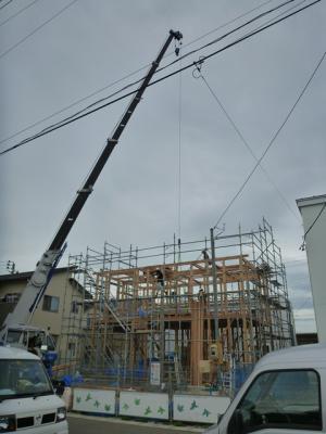 「【新築住宅】 寒河江市本楯 A様邸 建方」の画像