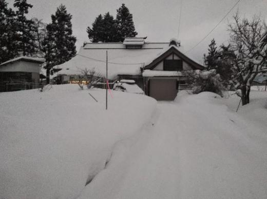 雪片付け/