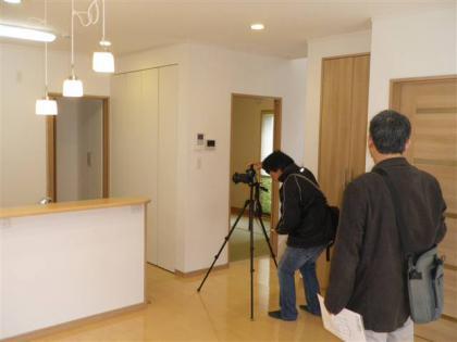 アイン企画の『山形家づくりの本2011年版』の撮影�/