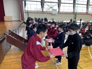 「生徒会引き継ぎ式」の画像