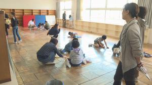 「7月1日〜放送 みんなの世界「高畠町立屋代小学校 校舎お別れペインティング」」の画像