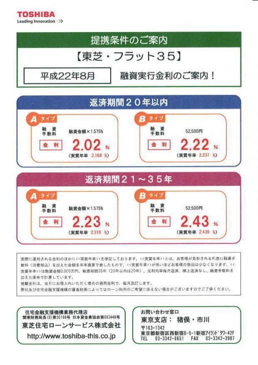 2010/08/06 09:26/住宅ローンの申し込みは今年中に!