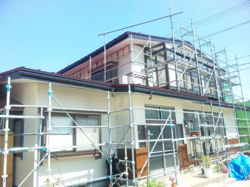 2011/06/01 12:54/U様邸外壁工事進行中!