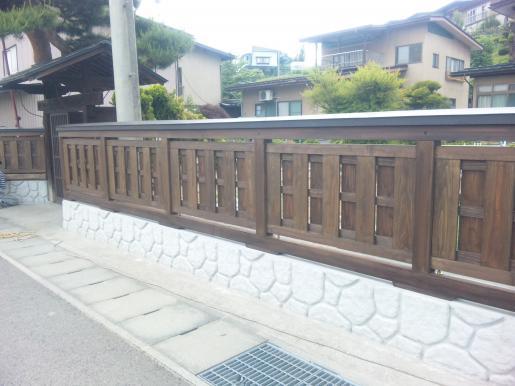2011/06/20 15:40/板塀完成☆