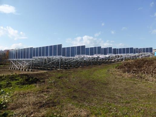 2014/11/26 09:13/野立て太陽光進捗(^^)