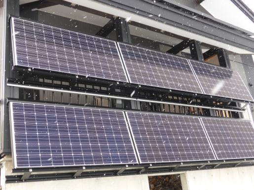 2018/01/12 17:14/壁面設置太陽光 運転開始!