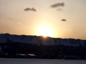 「斜平山の夕日」の画像
