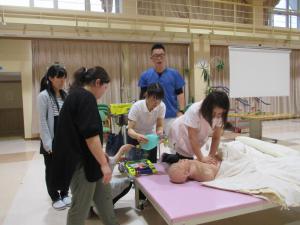 「施設内研修(救急対応について)」の画像