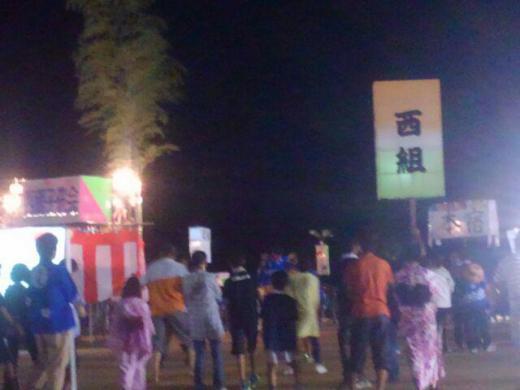 致芳地区民夏祭りへ/