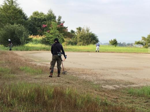 『燦燦会』さん 草刈りボランティアありがとうございました/