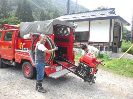 2012/06/18 18:07/地元に消防団がある風景。 実はそれが普通なんです(^_^)v