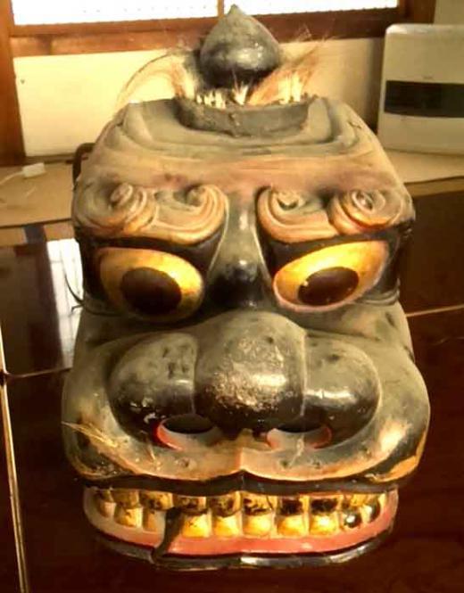畔藤 熊野神社の獅子頭/