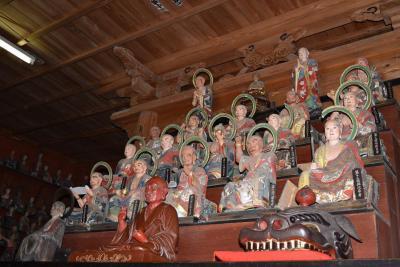 「玉龍院「五百羅漢像」 修復作業公開」の画像