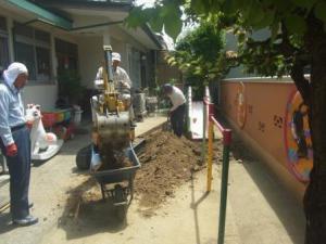 「園庭の整備」の画像