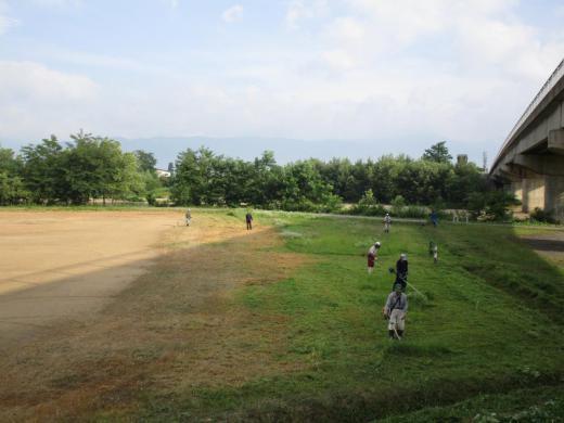 豊田地区【白川グラウンド整備】行いました。/