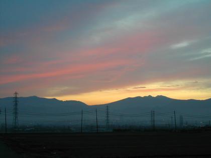 今朝の風景/