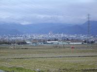 「今朝の山形市内と水仙の花」の画像