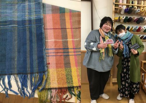 「桜舎商店にて織り体験ができます!」の画像