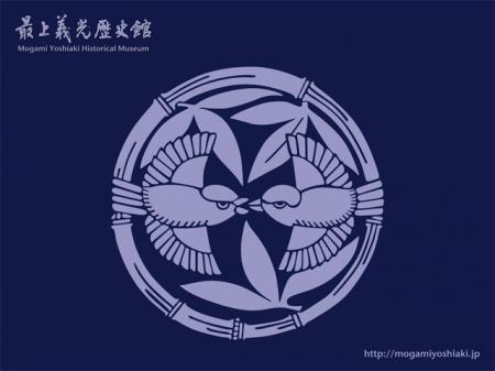 2008/07/09 06:35/【壁紙】家紋 竹に雀(紺バージョン)
