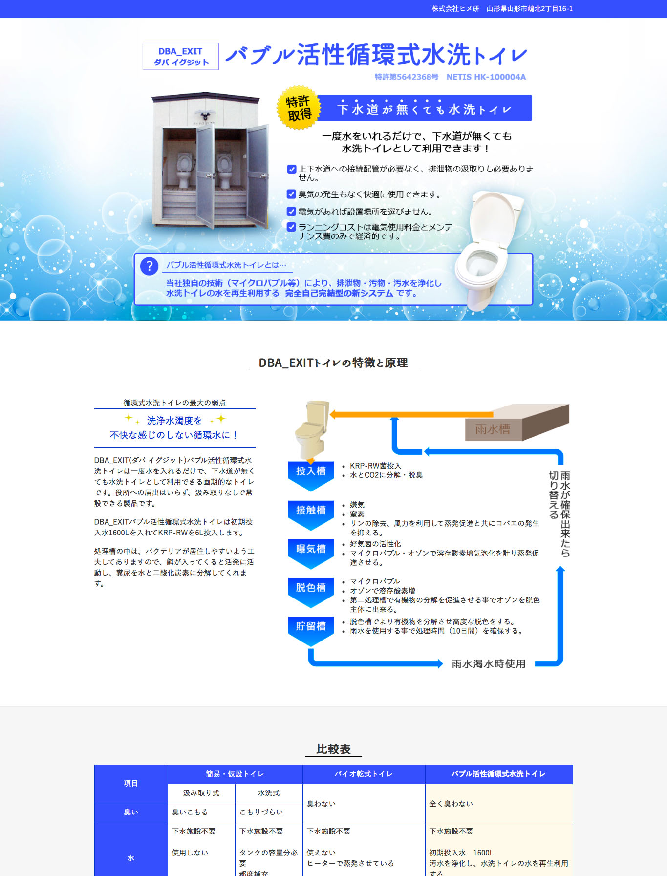 バブル活性循環式水洗トイレダバイグジット|商品サイト:画像