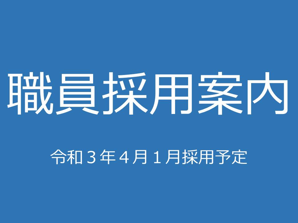 職員採用案内(令和3年4月採用):画像