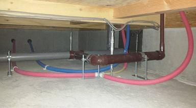 大衡宿泊体感モデルハウスの床下環境/