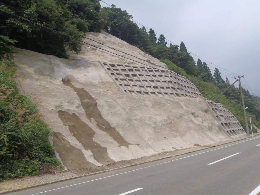 真室川鮭川線法面補修工事(真室川町大滝地内):画像